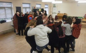 Young people at drama wokshop