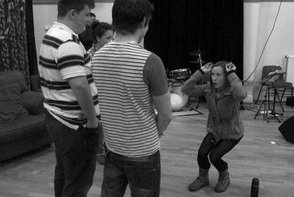 Katy Owen directs Rhys and Llyr in Christmas Cabaret, 2013