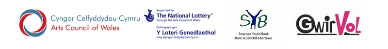 Supported By Arts Council of Wales, The National Lottery, Swansea Youth Bank and GwirVol