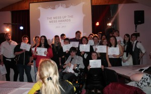 Young people with awards