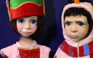 Ken and Bee Puppets in Festive Costume