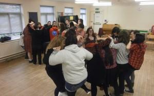 Young people at drama wokshop