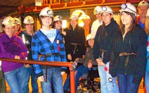 Young people from Mess Up The Mess at Big Pit