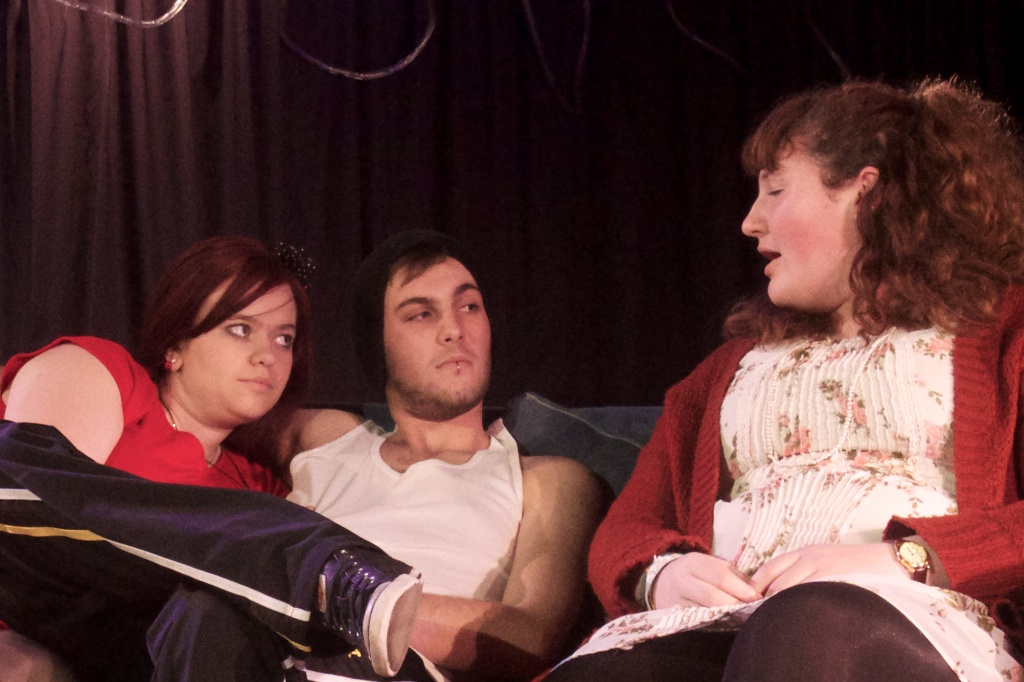 The Daggars Family seated on a sofa