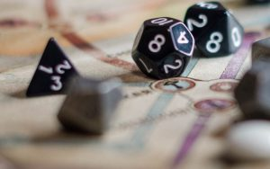 Selection of different multi-sided gaming dice