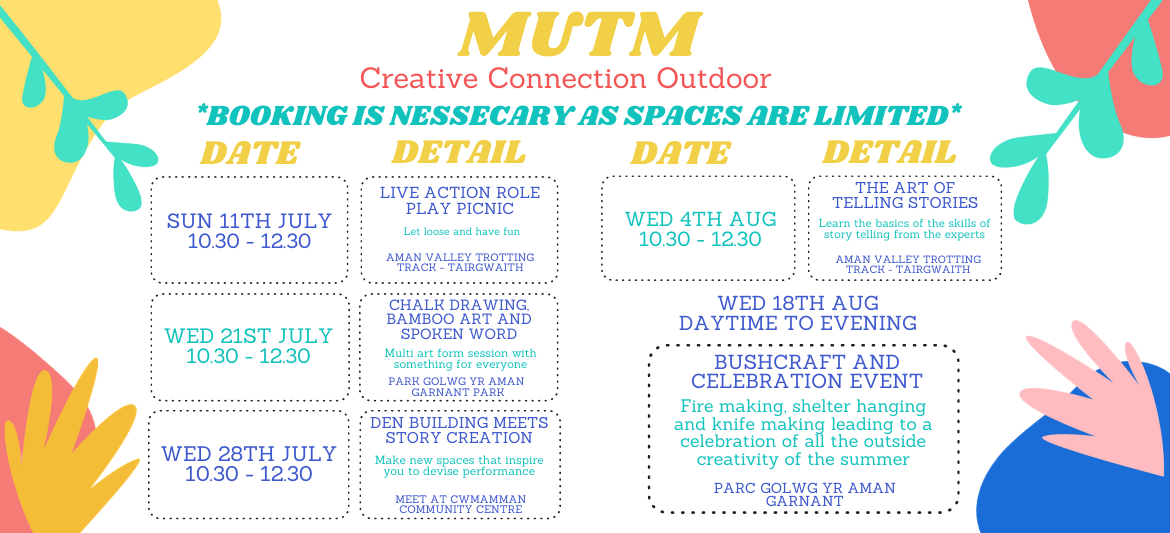 Creative Connections Outdoors – Summer 2021
